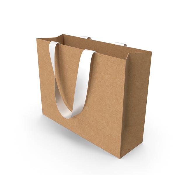 Ремесленная упаковочная сумка с белыми ручками