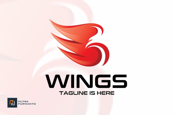 Cover Image For Wings - Logo Template