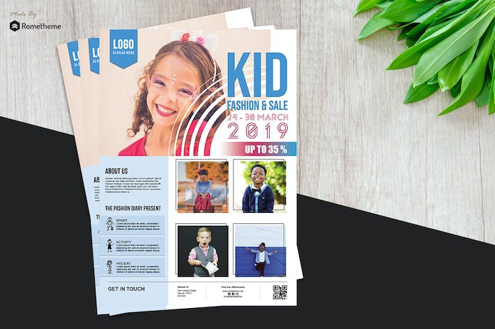 Cover Image For Kid Fashion Flyer vol.01