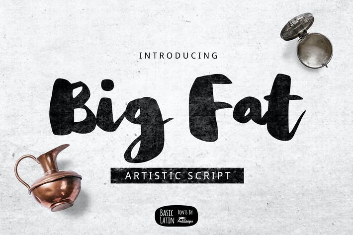 Thumbnail for Big Fat Brush Font