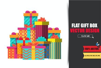 Großer Haufen bunt verpackter Geschenkboxen