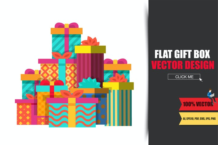 Thumbnail for Big Pile of Colorful Wrapped Gift Boxes