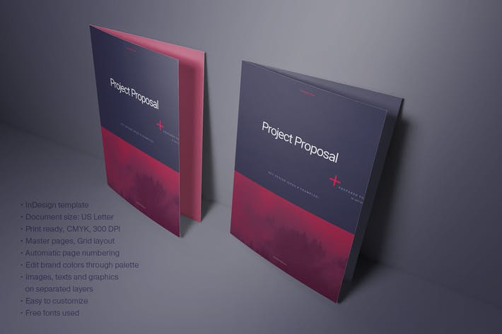 Thumbnail for Purple Business Proposal Layout
