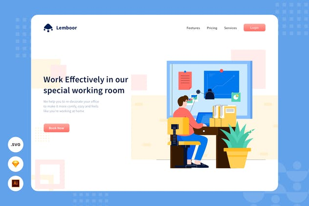 Office Life - Website Header - Illustration