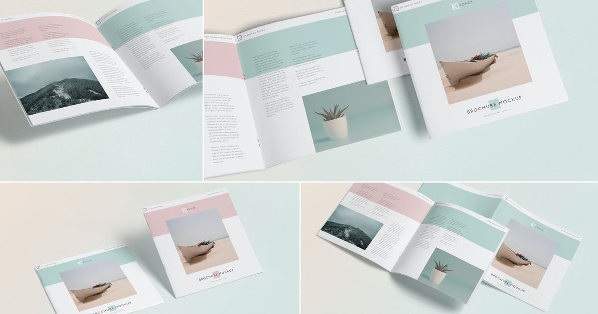 Download Square Brochure - Magazine Mock-Up by zippypixels