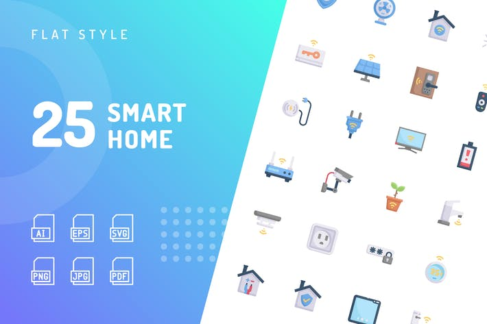 Smart Home Flat Icons