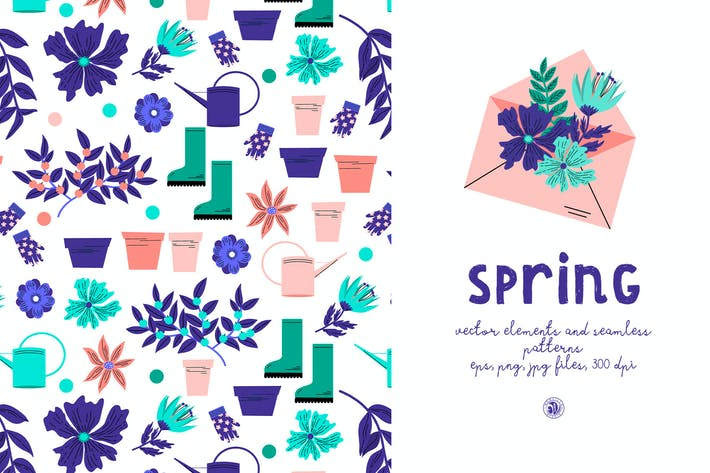 Thumbnail for Spring - seamless patterns