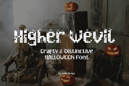 Higher Wevil - Halloween Font