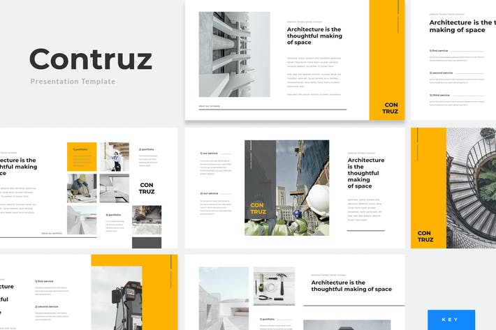 Thumbnail for Contruz - Construction Keynote Template