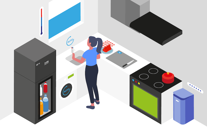 Thumbnail for Smart Kitchen Isometric Illustration