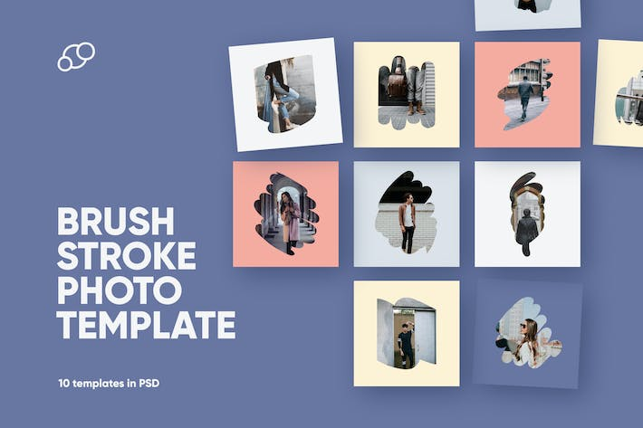 Thumbnail for Brush Stroke Photo Template