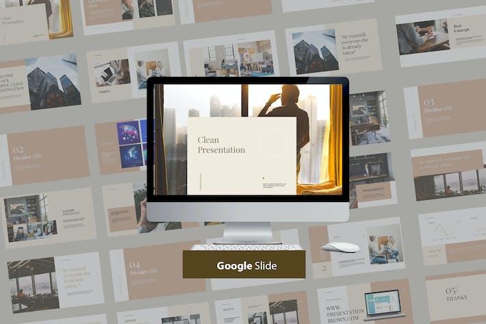 Thumbnail for Чистый современный Презентация Google Слайд