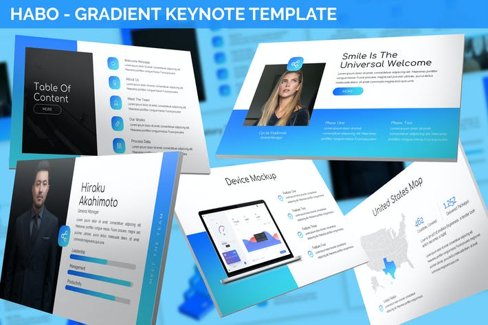 Thumbnail for Habo - Gradient Keynote Template