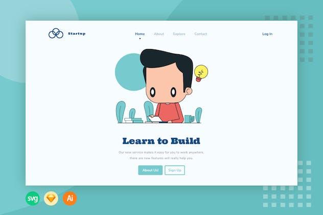 Learn Board - Website Header - Illustration