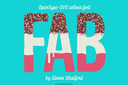 Fab Ice Lolly font Opentype Colour Font svg