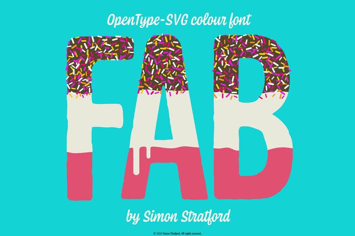 Thumbnail for Fab Ice Lolly font Opentype Colour Font svg