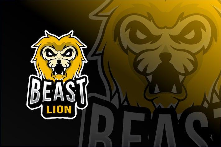 Thumbnail for Beast Lion Esport Logo Template
