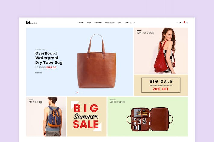 Thumbnail for Evon - Bag Store WooCommerce WordPress Theme