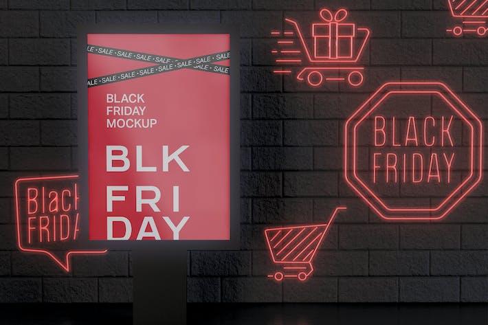Black Friday Billboard Mockup