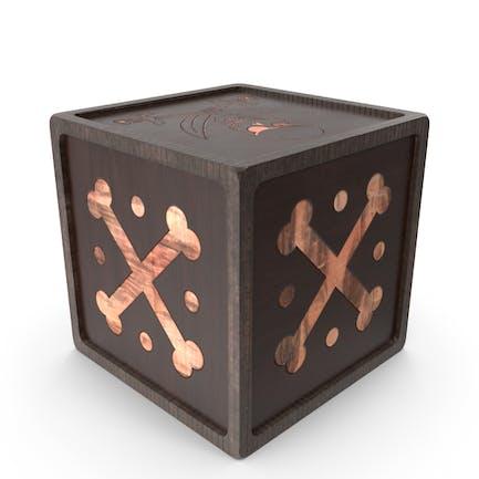 Caja pirata de madera