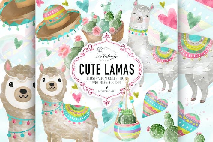 Thumbnail for Cute Lama design
