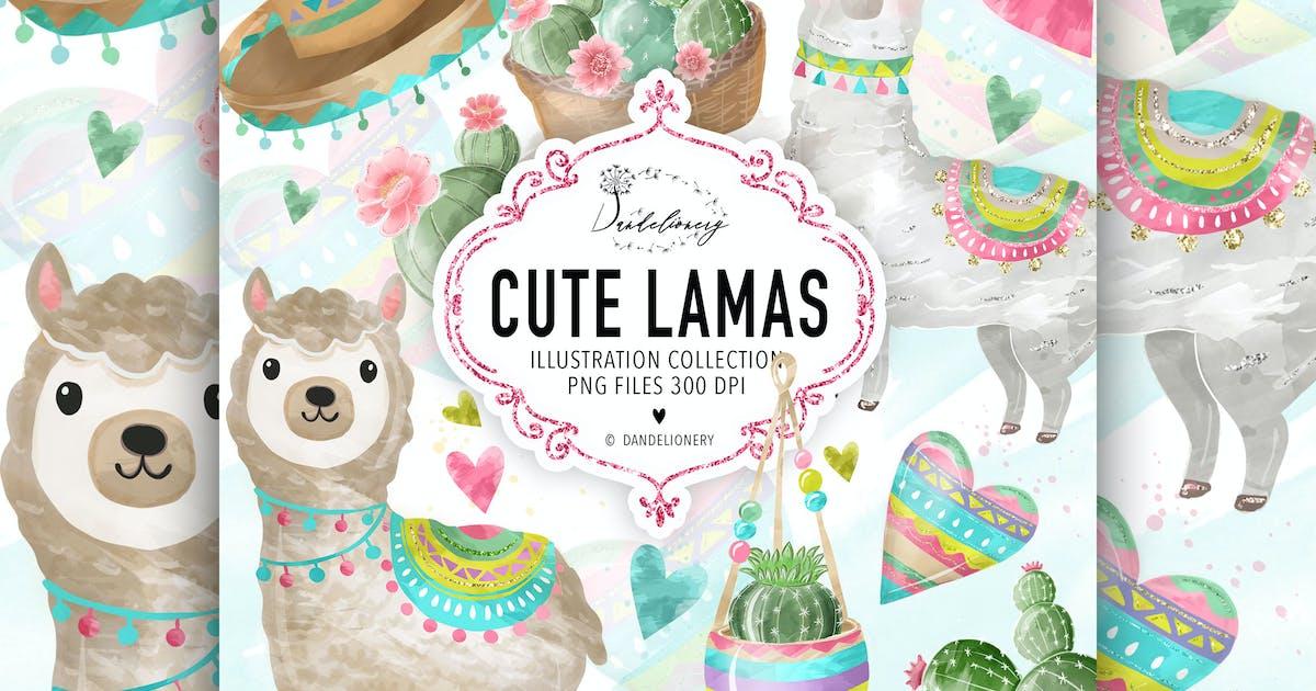 Download Cute Lama design by designloverstudio