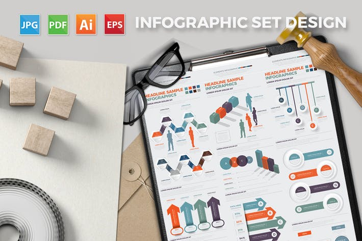 Thumbnail for Big Infographics Elements Design