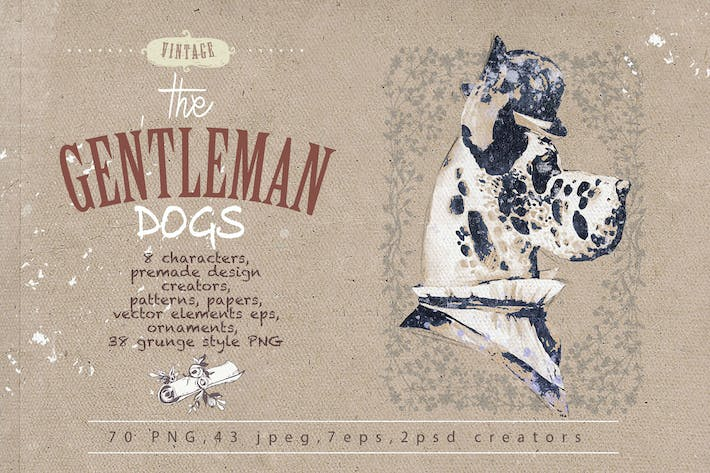 Thumbnail for GENTLEMAN DOGS SET