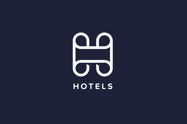Thumbnail for Hotels H Letter Logo Template