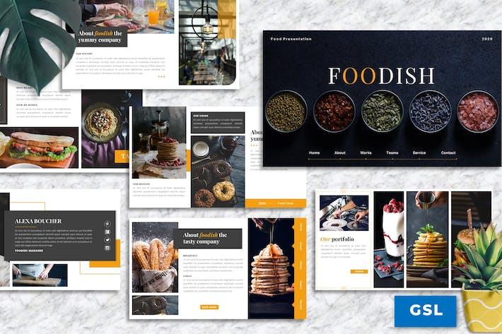 Thumbnail for Foodish – Food & Beverage Googleslide Template