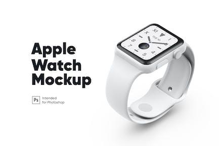 Apple Watch White Ceramic Mockup