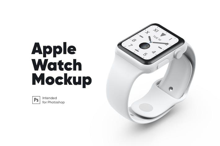 Thumbnail for Apple Watch White Ceramic Mockup