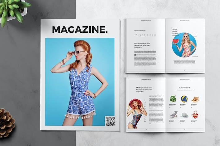 Summer Clean Magazine Template