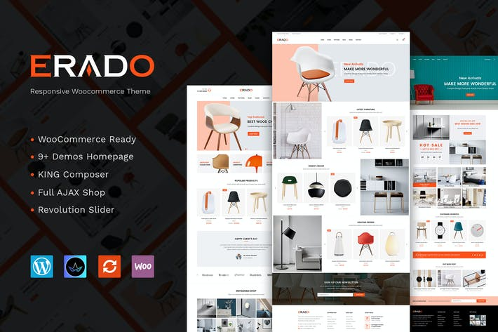 Thumbnail for Erado - unique design WordPress theme