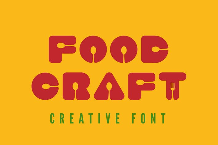 Thumbnail for Food Craft Font