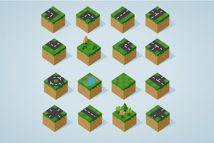 Thumbnail for Complete Isometric Tiles series