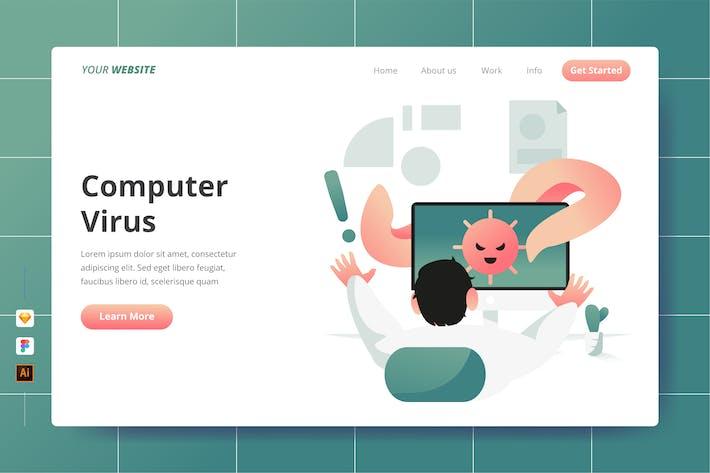 Thumbnail for Virus informatique - Page de destination