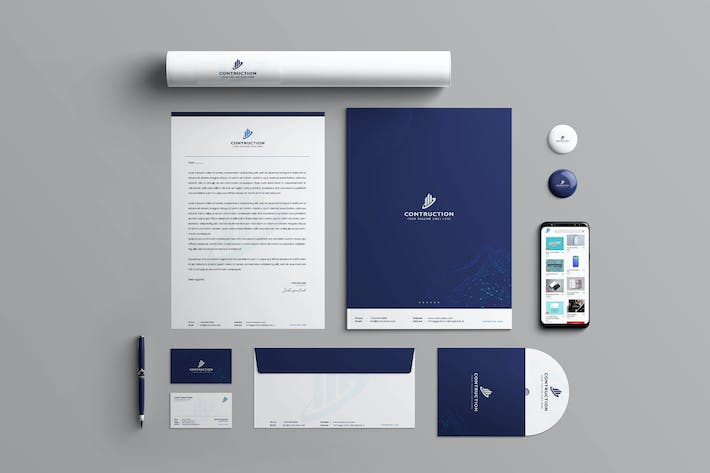 Thumbnail for Contruction Branding Identity & Stationery Pack