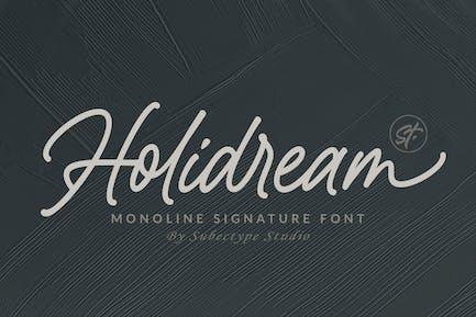 Holidream - Monoline Signature Font
