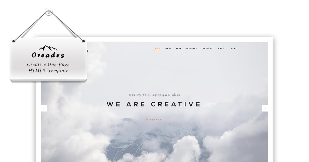Download Oreades - Creative One-Page HTML5 Template by IG_design