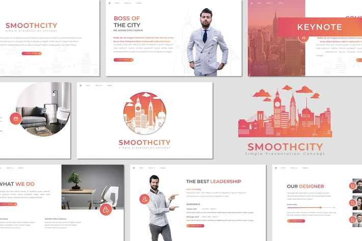 Thumbnail for Smoothcity - Business Keynote Template