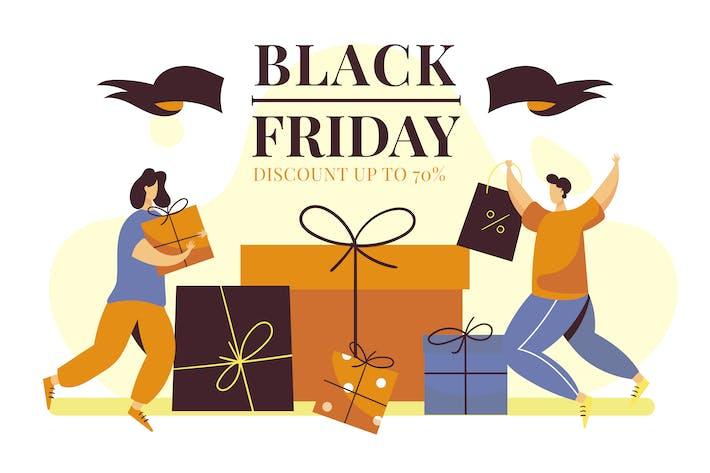 Thumbnail for Black Friday - Illustration plate