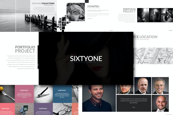 Thumbnail for Sixty One - Powerpoint Template