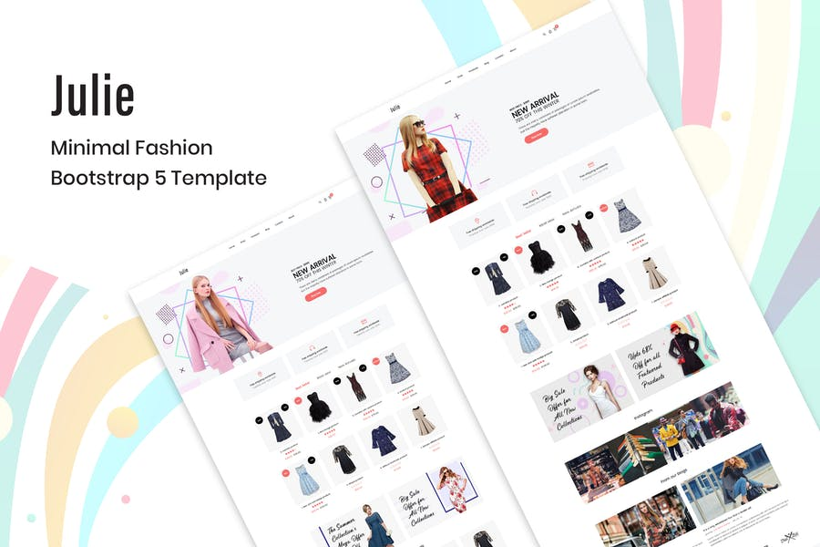 Julie – Minimal Fashion Bootstrap 5 Template