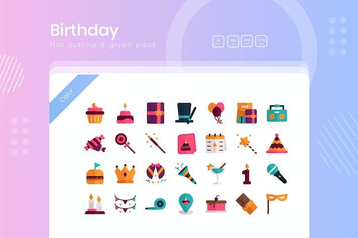 Paquete de iconos de cumpleaños