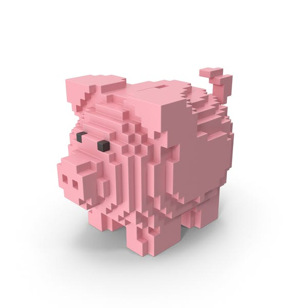 Voxel Piggy Bank
