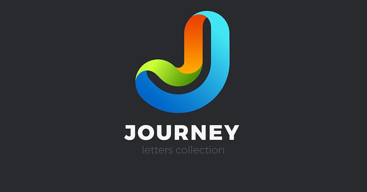 Download Letter J Logo design 3D Ribbon style by Sentavio
