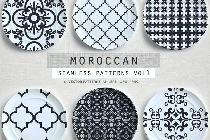 Thumbnail for Moroccan Style seamless vector patterns vol1