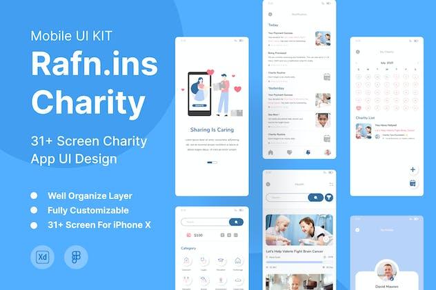 Rafn.ins - Charity UI Mobile Kit