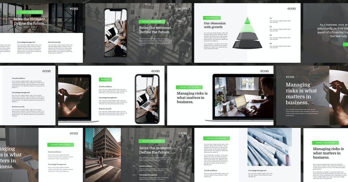 Download ECON - Modern Keynote Template by Slidehack